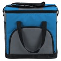 29 cm x 20 cm x 29 cm Blue Soft-Sided Insulated Cooler