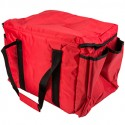 38 cm x 30 cm x 30 cm Red Insulated Nylon Food Delivery Bag