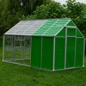 Aluminum Greenhouse with 5 Rooms and 1 Window - 310*190*195 cm._D1150948_1
