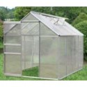 Aluminum Greenhouse with 4 Rooms and 2 Windows - 250*190*195cm - PC Panels_D1150950_1