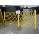 Security Gate with Sign - Adjustable - Yellow_D1000076_1
