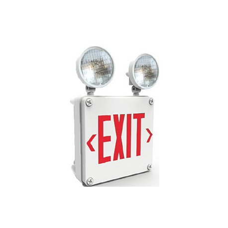 "LED Exit Sign – Red With Light – ABS Thermoplastic – Single Face – Incandescent Emergency Light – 11"" x 11"" x 5.2""_D1142715_main"