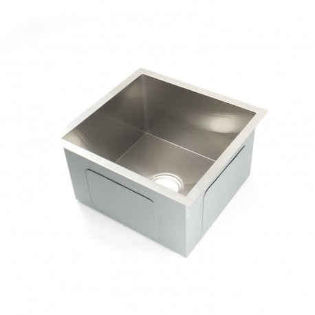 "Kitchen or Bar Sink - Stainless Steel - Single Basin - 17""x18""x10"" - Radius 10mm_D1160027_main"