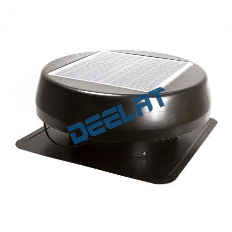 "Solar Powered Exhaust Fan and Ventilator - 15W - Adjustable - 14"" - Wall Mounted_D1143115_main"