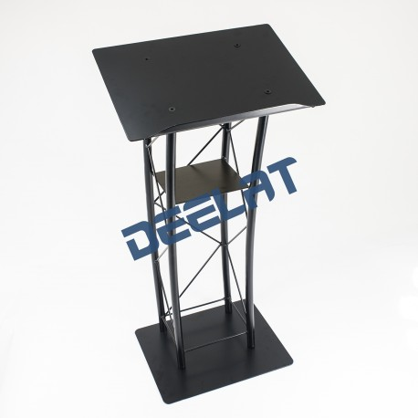 "Podium Stand - Iron - Black Powder Coated - 23"" x 45-2/3""_D1160614_main"