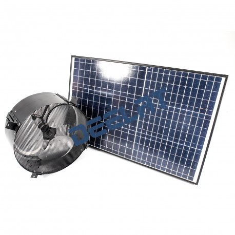 "Solar Powered Exhaust Fan and Ventilator - 20W - Adjustable - 14"" - Wall Mounted_D1155745_main"