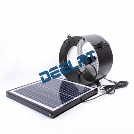 "Solar Powered Exhaust Fan and Ventilator - 12W - Adjustable - 12""_D1143124_main"