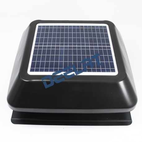 "Solar Powered Exhaust Fan and Ventilator - 15W - Adjustable - 14""_D1143114_main"