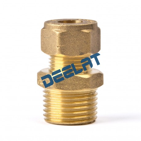 """Compression Fitting – Straight – Male – Brass – 15 mm x 3/8""""_D1146026_main"""
