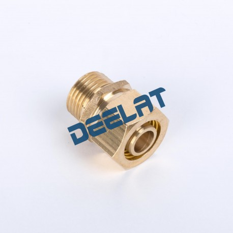 """Compression Fitting – Straight – Male – Brass – 15 mm x 1/2""""_D1145963_main"""