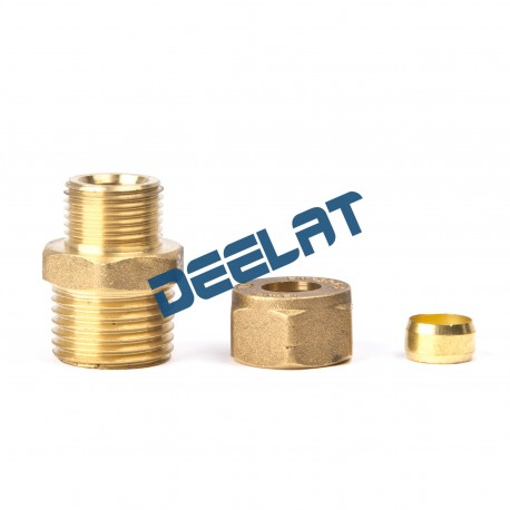 "Compression Fitting – Straight – Male – Brass – 8 mm x ¼""_D1146021_main"