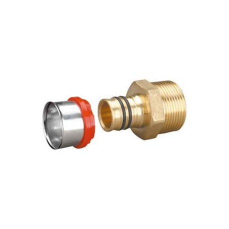 """Compression Fitting – Straight – Male – Brass – 16 mm x 1/2""""_D1145995_main"""