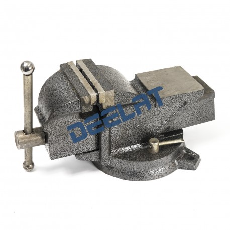 "Heavy Duty Bench Vise with Anvil and Swivel Base - 4"" - All Steel_D1159415_main"