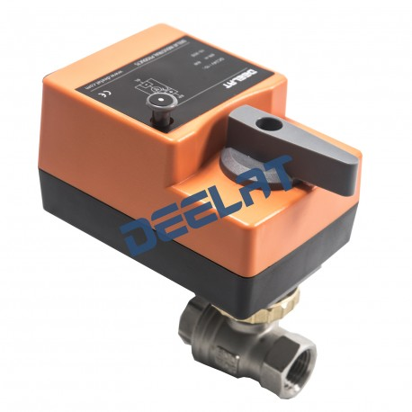 """Control Ball Valve (Fast Running) - 2-Way DC/AC - 1"""", 6N.m, Stainless Steel, 24 V - 0-10 V_D1156151_main"""