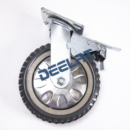 Caster – Double Ball Bearing, Anti Skid – Heavy Duty – PU – Dia. 200 mm_D1143998_main