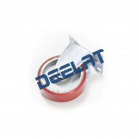 "Caster – Double Ball Bearing, Rigid – Heavy Duty – Iron Core PU – Dia. 3.94""_D1154594_main"