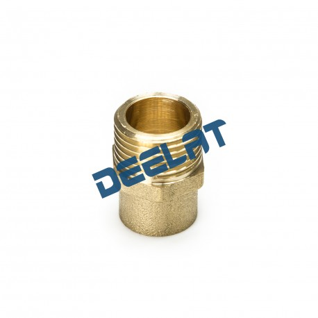 "Soldering Fitting – Male Nipple – Brass – 15 mm x 1/2""_D1145939_main"