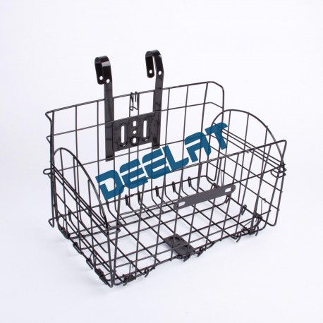 Twin Rear Bicycle Carrier Basket - Iron Wire_D1064009_main