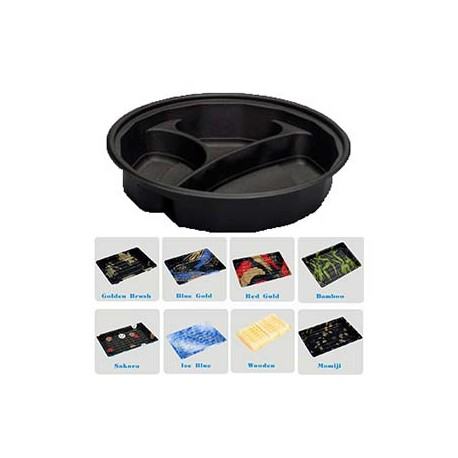 100pcs Sushi To-Go Box - Blue Gold--360*360*30 cm_D1143020_main