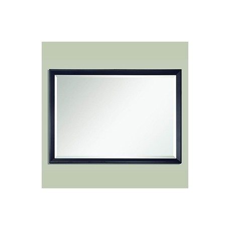 Rectangular Mirror, Black Nickle-Aluminum Frame in Silver ...