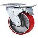 Caster – Double Ball Bearing, Top Plate – Heavy Duty – Iron Core PU – Dia. 150 mm_D1154584_1
