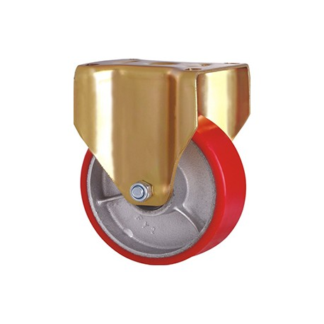 "Caster – Double Ball Bearing, Rigid – Heavy Duty – Iron Core PU – Dia. 5.91""_D1154596_main"