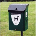 Pet Waste Station - General Steel and Galvanized Inner Tub - Black