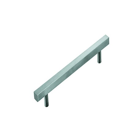 Satin Stainless Steel Square-Edged Cabinet Handle - 9.6x1.2x1.2 cm_D1161245_main
